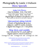 Show Specials, pricing and order information